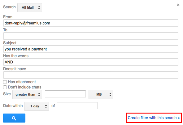 Gmail Label Filter Creation