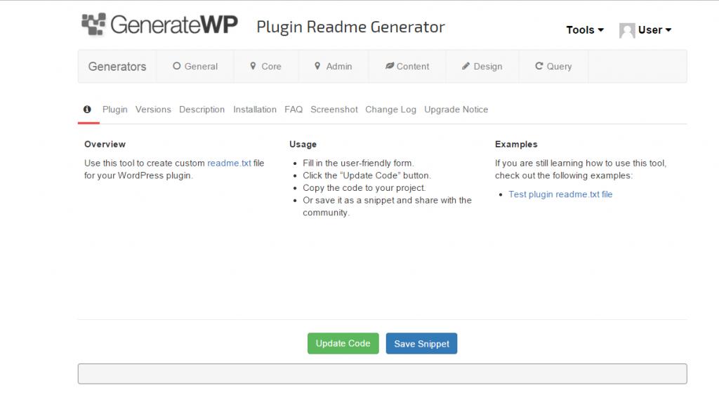 gp plugin generator