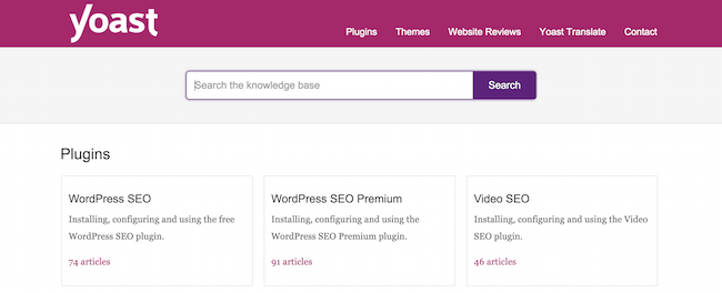 Yoast's Knowledge Base