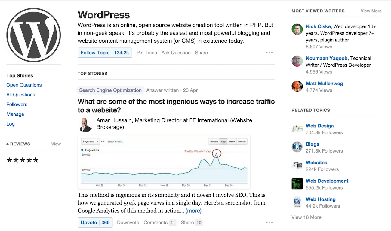 quora-wordpress