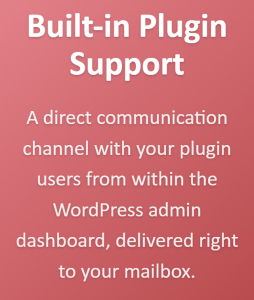 Built-in WordPress plugin support
