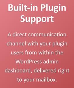 Built-in WordPress plugin support