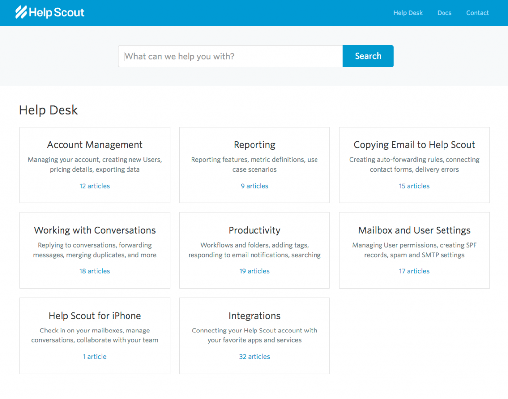 HelpScout Homepage