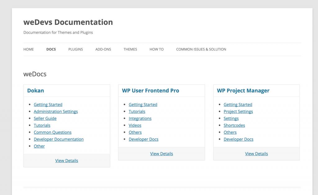 weDevs homepage