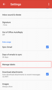 Gmail Mobile Manage Labels