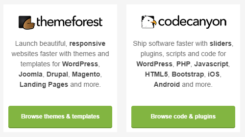 ThemeForest or CodeCanyon