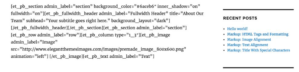 WordPress page builder shortcode mucus
