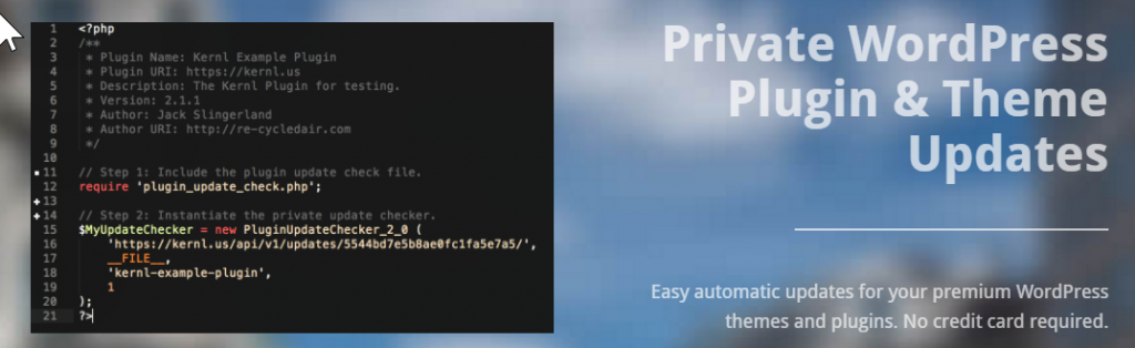 Kernl homepage screenshot