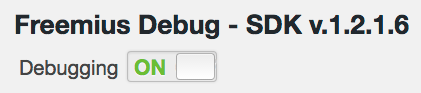 the Debugging switch
