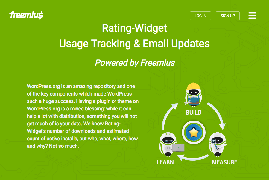 Freemius' Users Usage-Tracking Terms