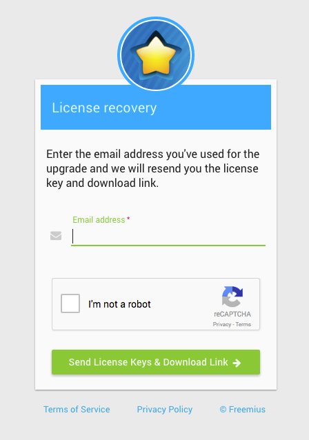 Freemius Customers License Recovery