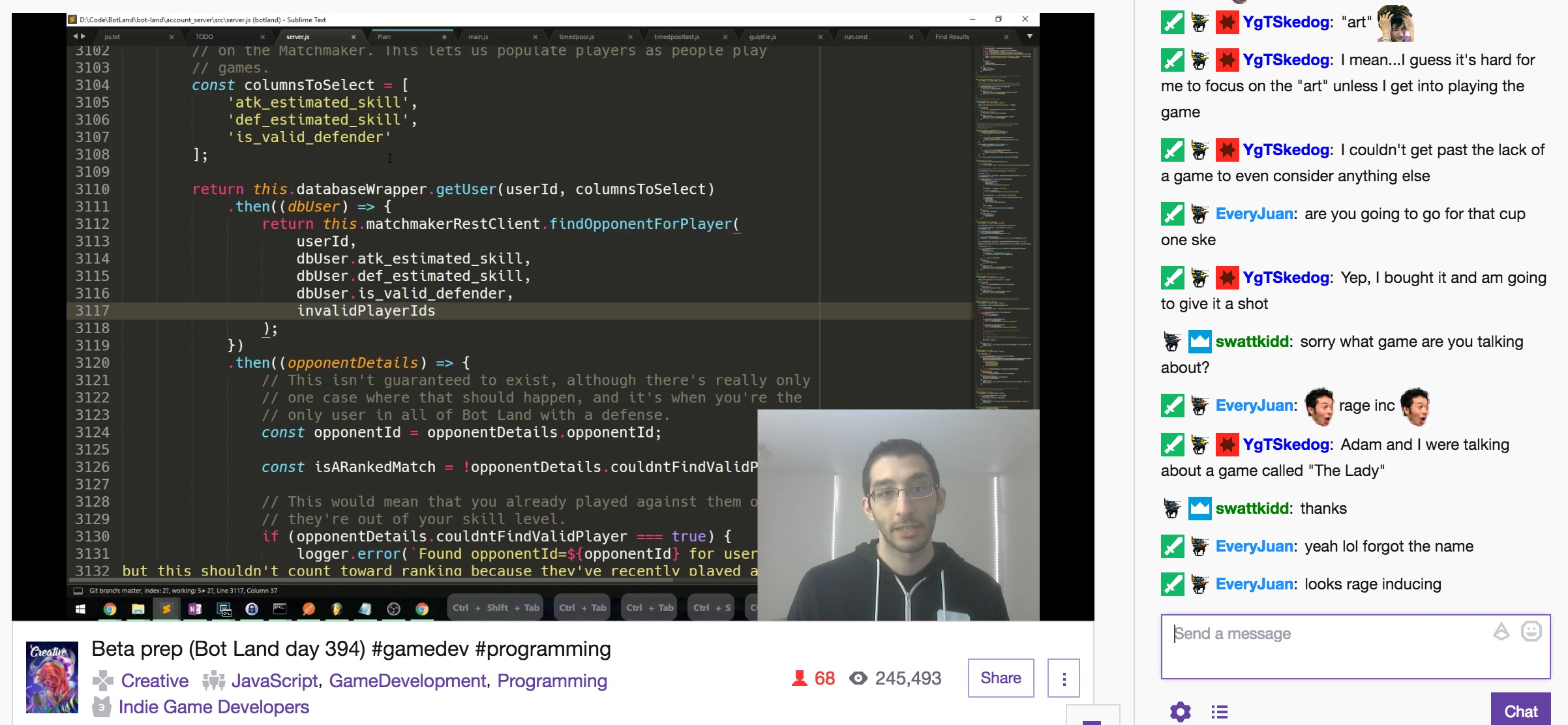 Coding and chatting