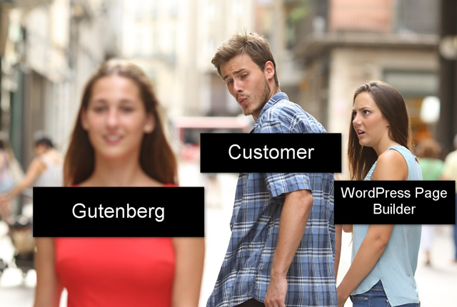 A WordPress business meme for Gutenberg