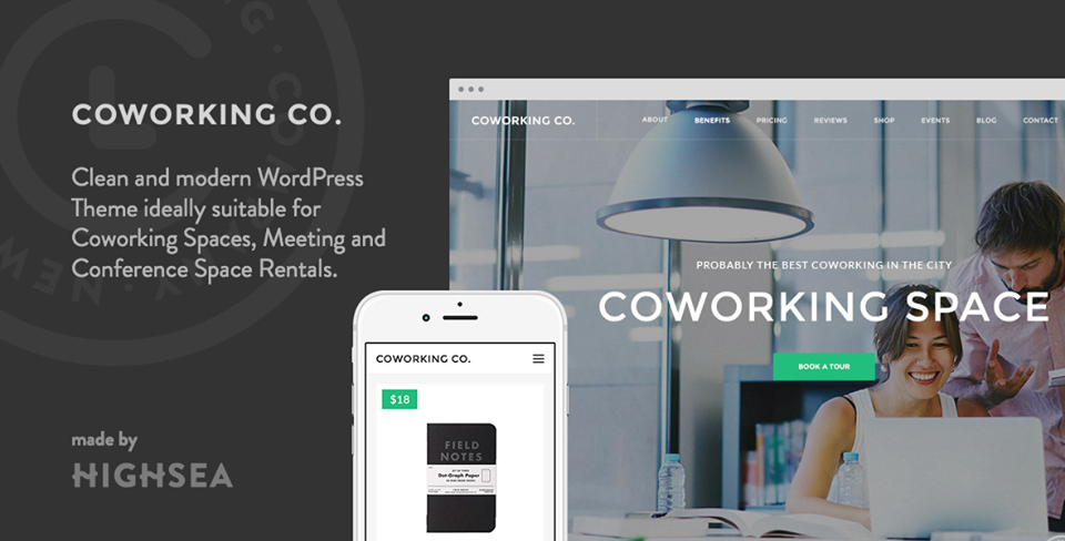 Coworking Co. - Creative Space WordPress Theme