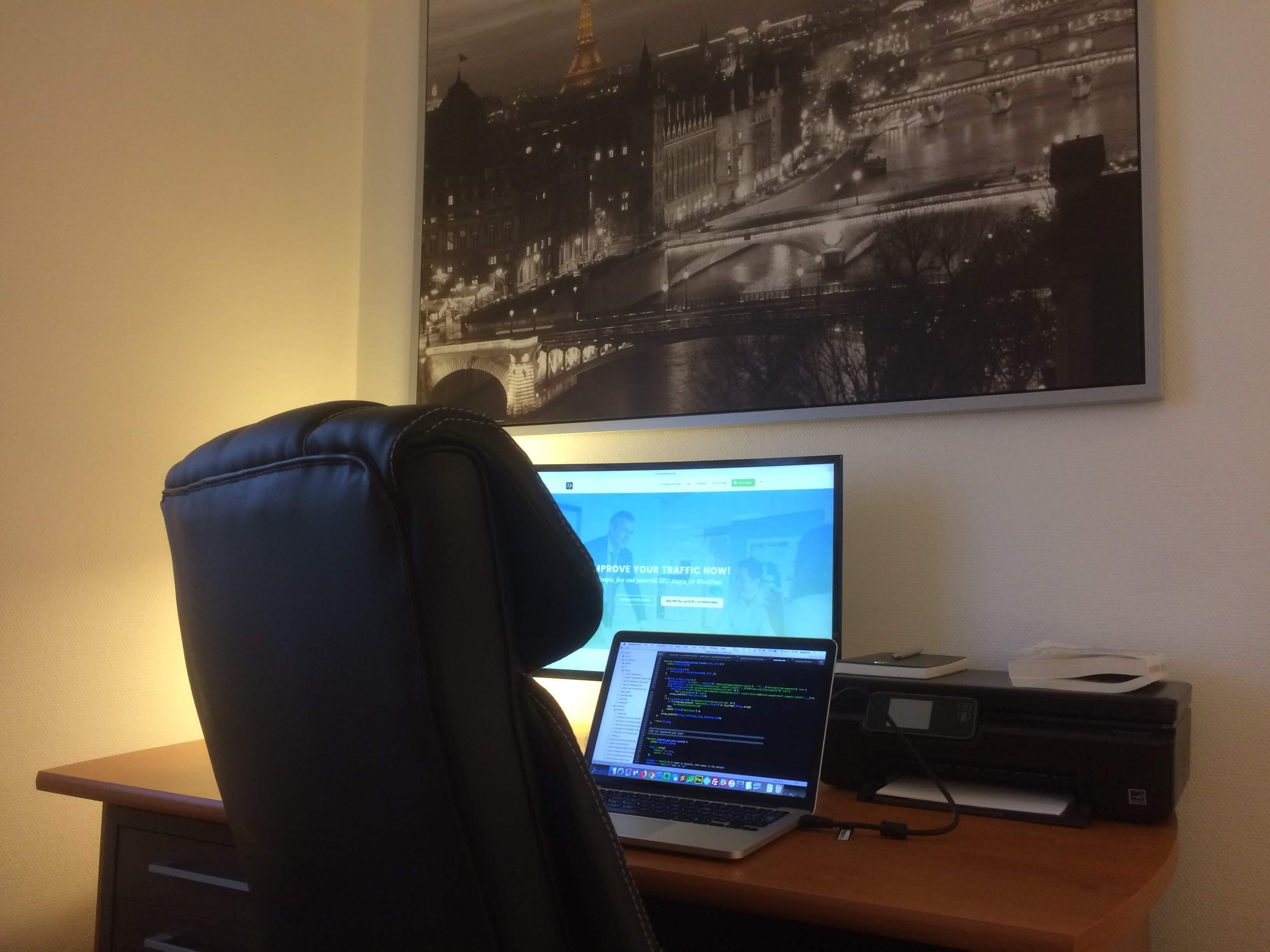 Benjamin Denis work environment for SEOPress