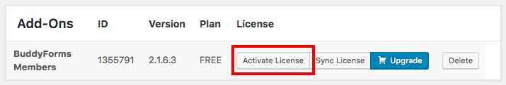 Freemius WordPress SDK Add-on License Activation