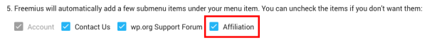 Freemius SDK Integration Affiliate Form Activation