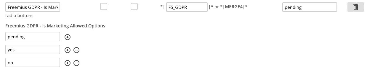 Freemius MailChimp gdpr merge field