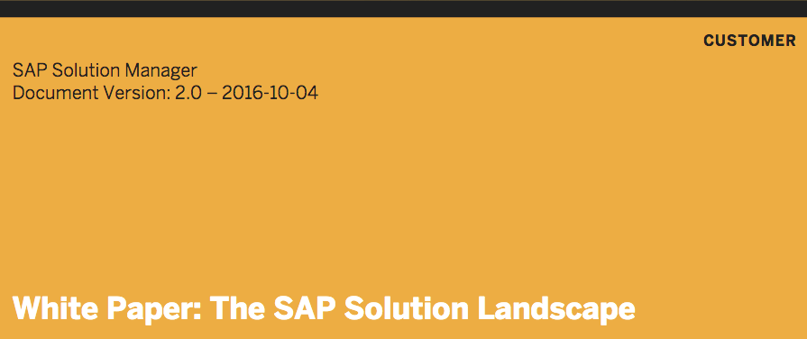 SAP white paper