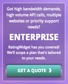 enterprise package on the RatingWidget pricing page