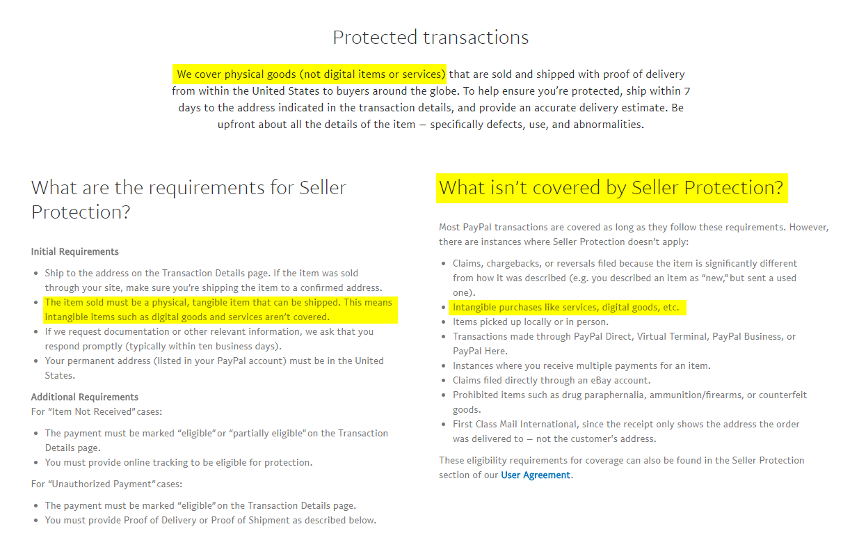 PayPal Seller Protection for Merchants – PayPal US