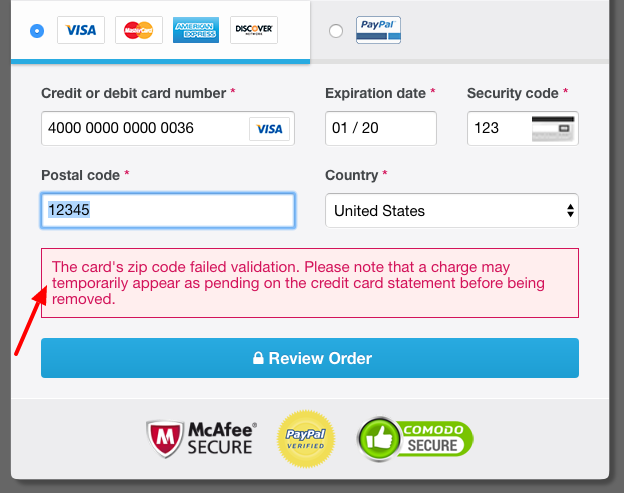 Freemius Checkout - Invalid Zip Code Error