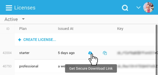 Freemius Developers Dashboard - Generate Secure Download Link