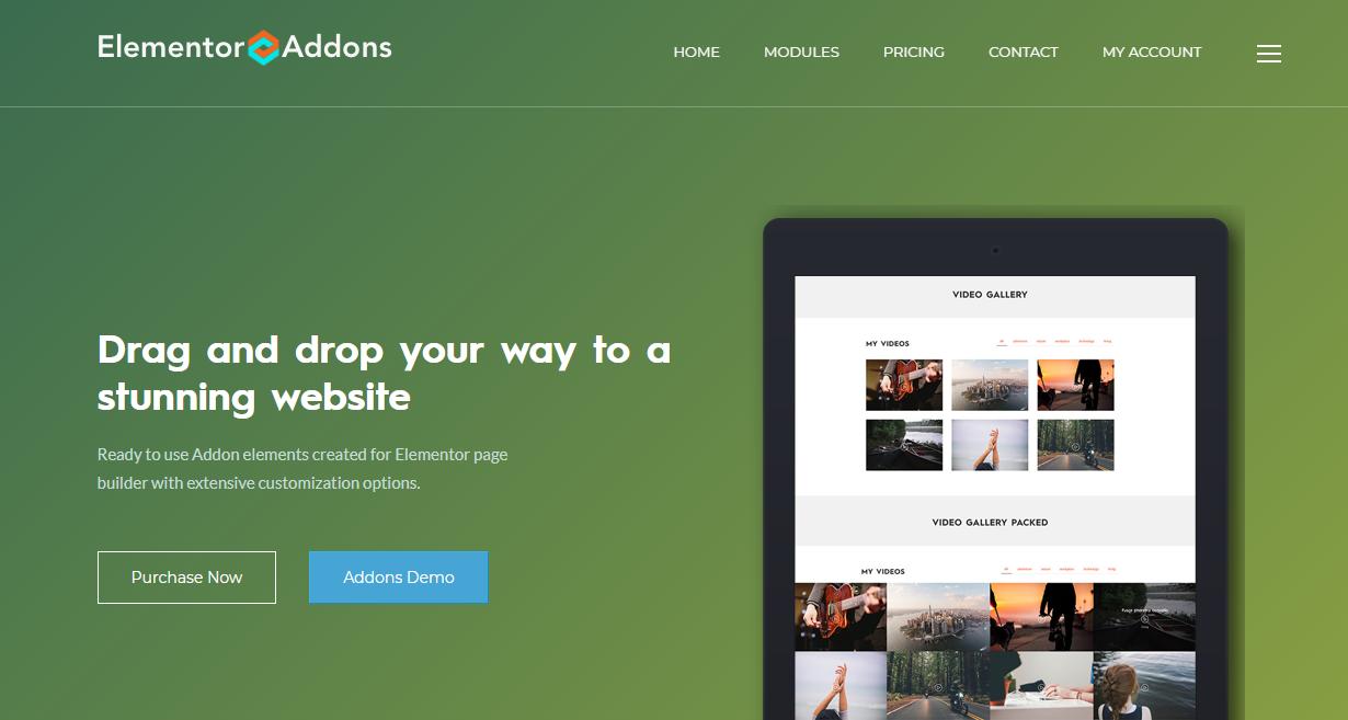A minimalist landing page