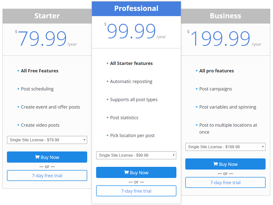 Pricing table with a recommended price - taken out of https://tycoonmedia.net/#pricing