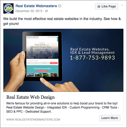 Dynamic Product Ads targeting people looking for real estate WordPress themes