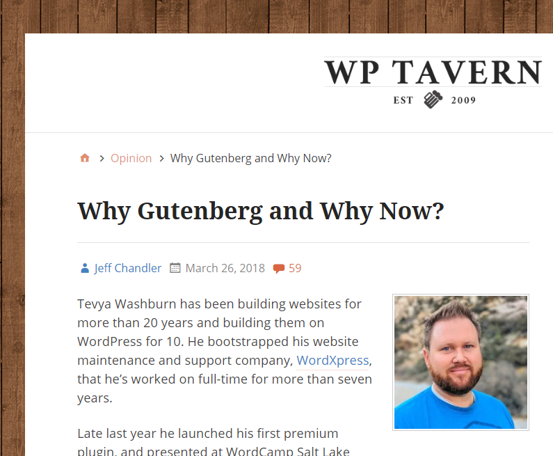Tevya's guest article on the TavernWP publication helps him get to relevant audiences for his WordPress plugin