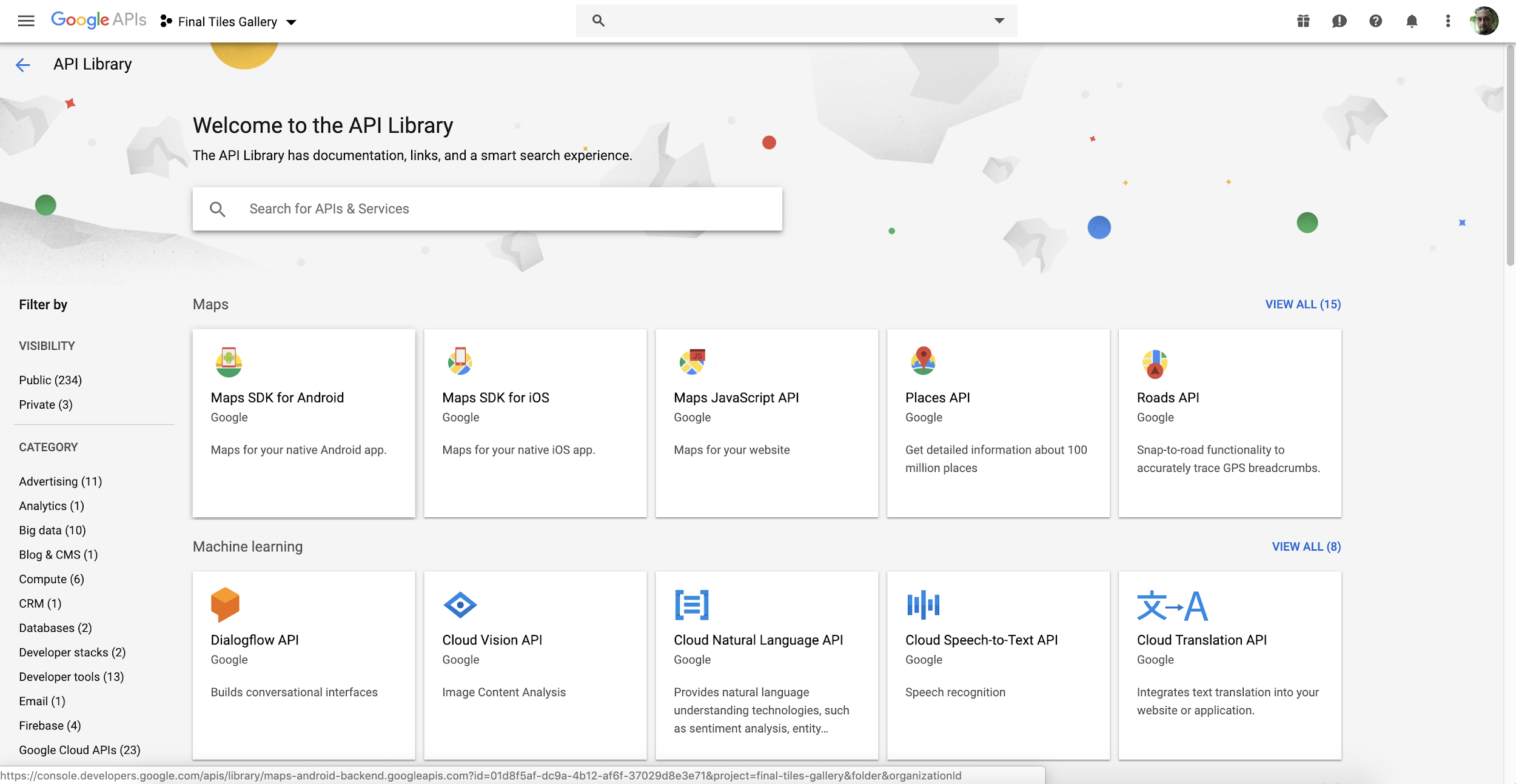 Google Cloud API Library