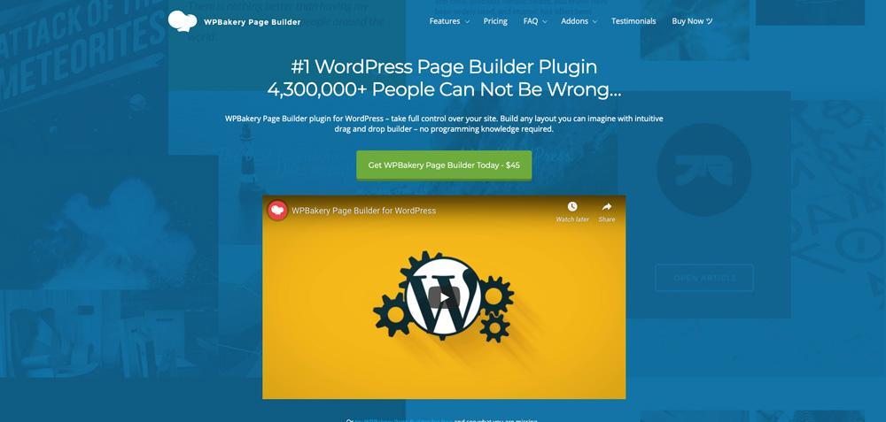 WPBakery homepage