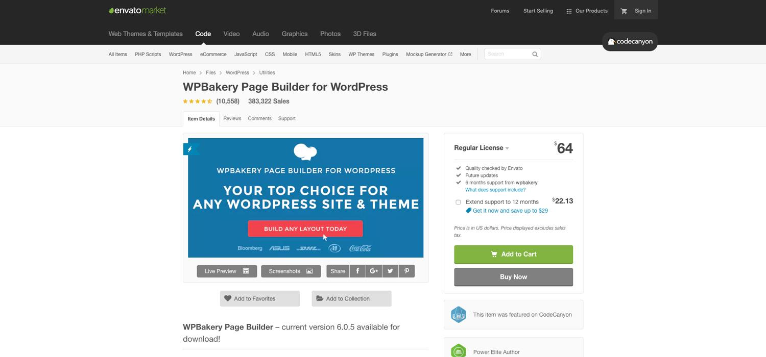 WPBakery Page Builder for WordPress on CodeCanyon