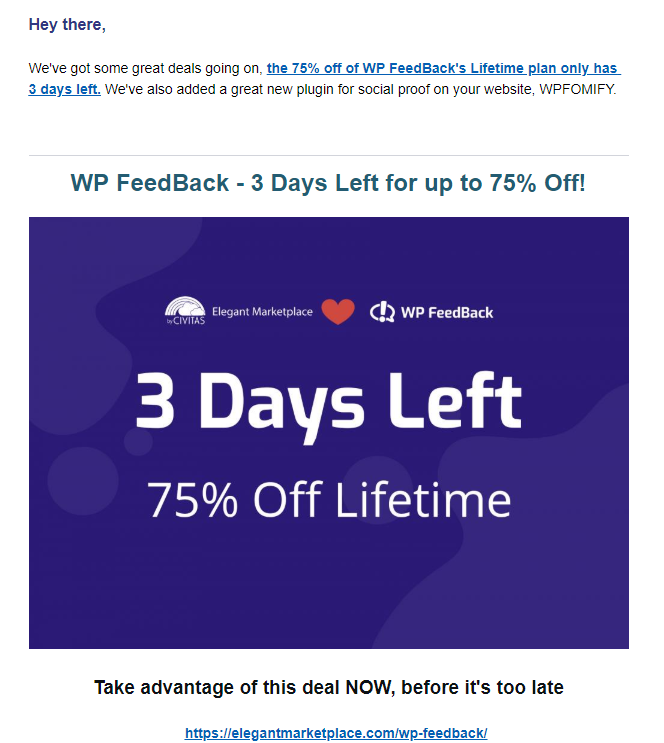 WP FeedBack Elegant Marketplace email