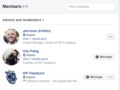 WP FeedBack group member number