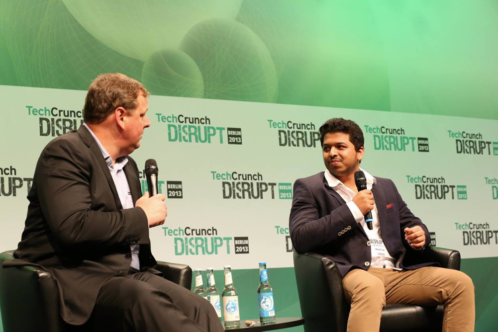 Sagar Patil speaking at TechCrunch