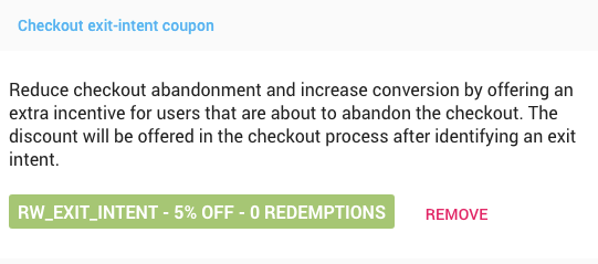 Freemius Developer Dashboard Special Coupons Exit-intent Coupon