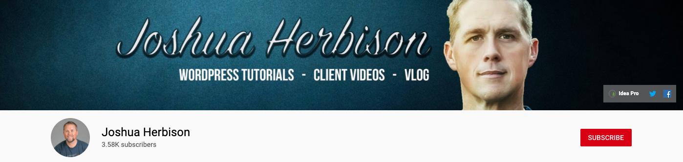 Joshua Herbison YouTube Channel