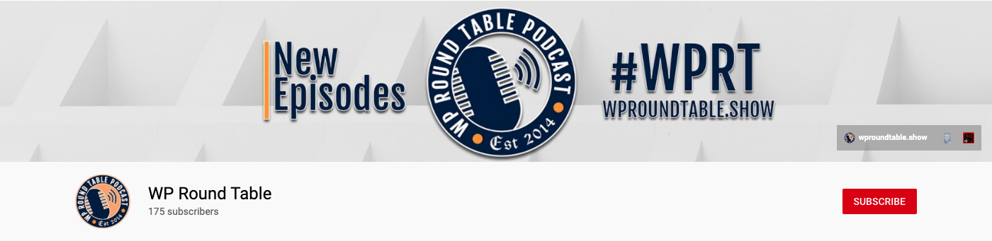 WP Roundtable WordPress Podcast YouTube Channel