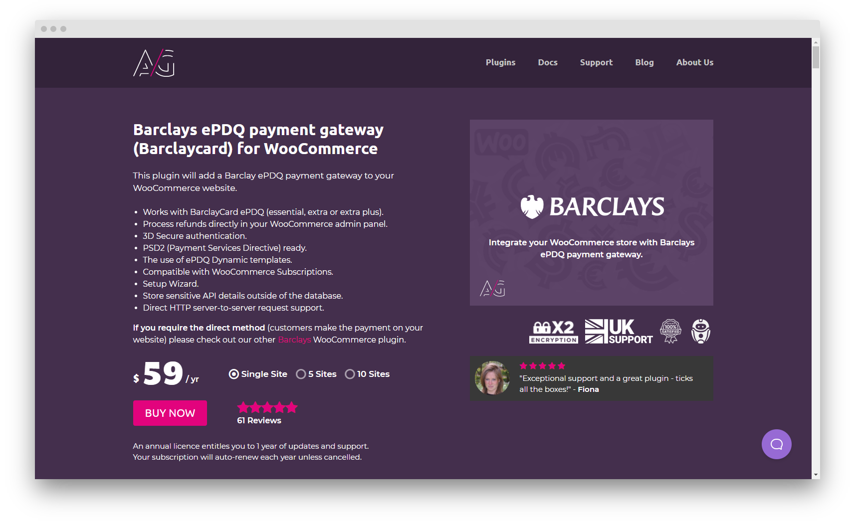Landing Page of Barclays ePDQ Payment Gateway for WooCommerce Plugin