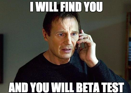 Beta Test Meme