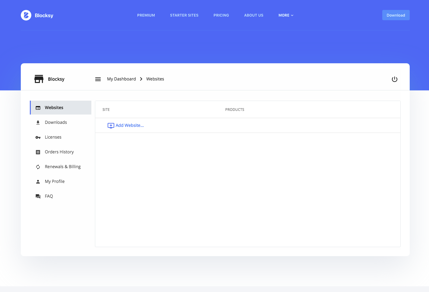 Blocksy Customized User Dashboard