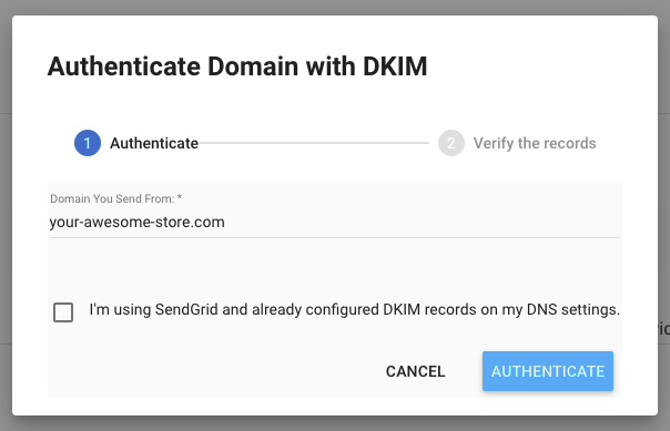 Freemius Developer Dashboard Self-Authenticate with DKIM