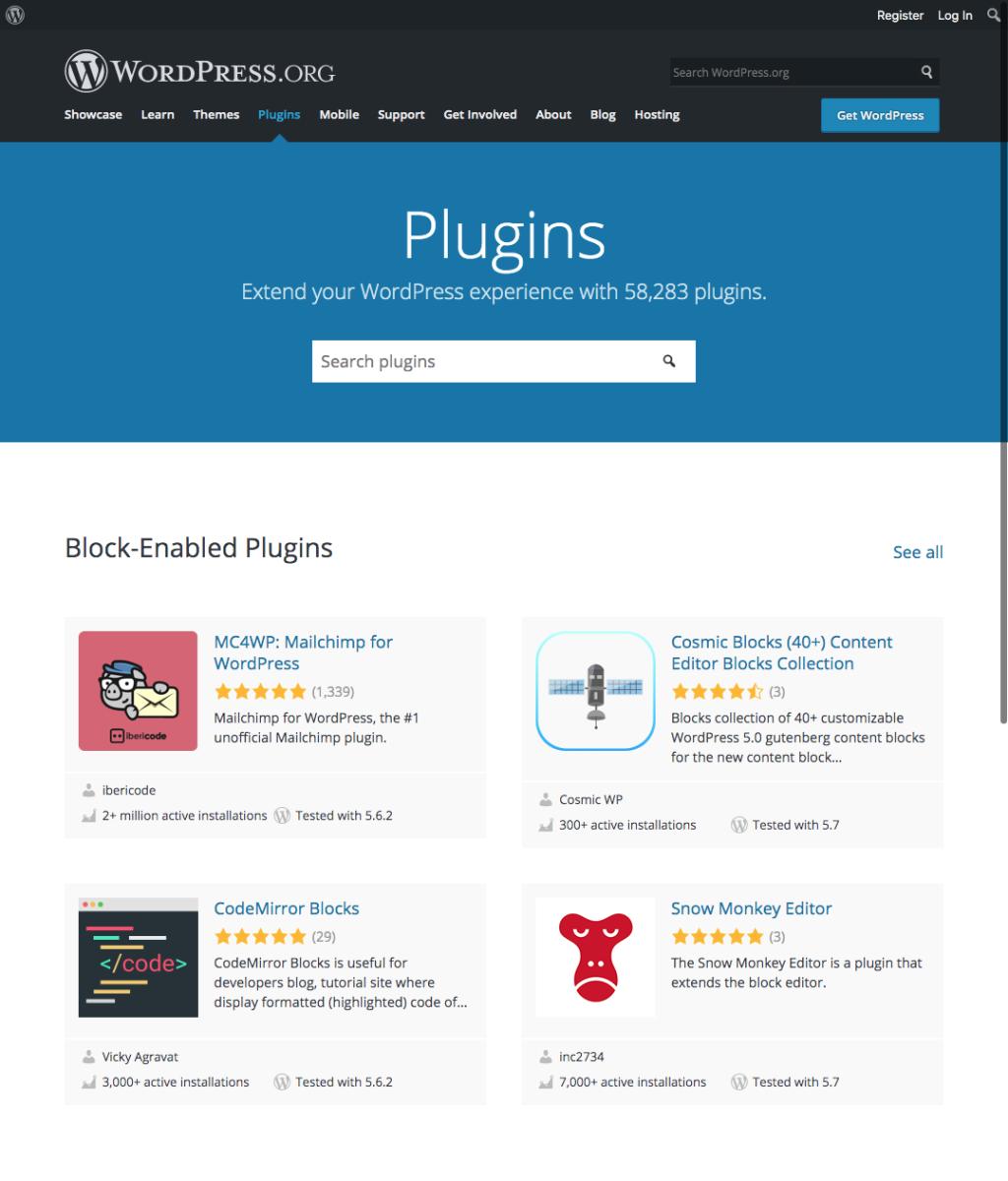 Plugins directory WordPress