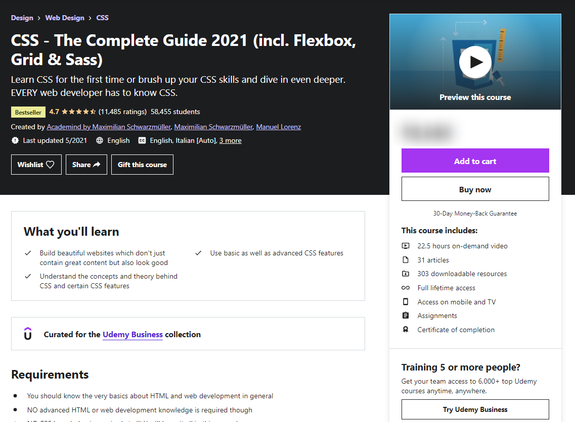CSS — The Complete Guide 2021