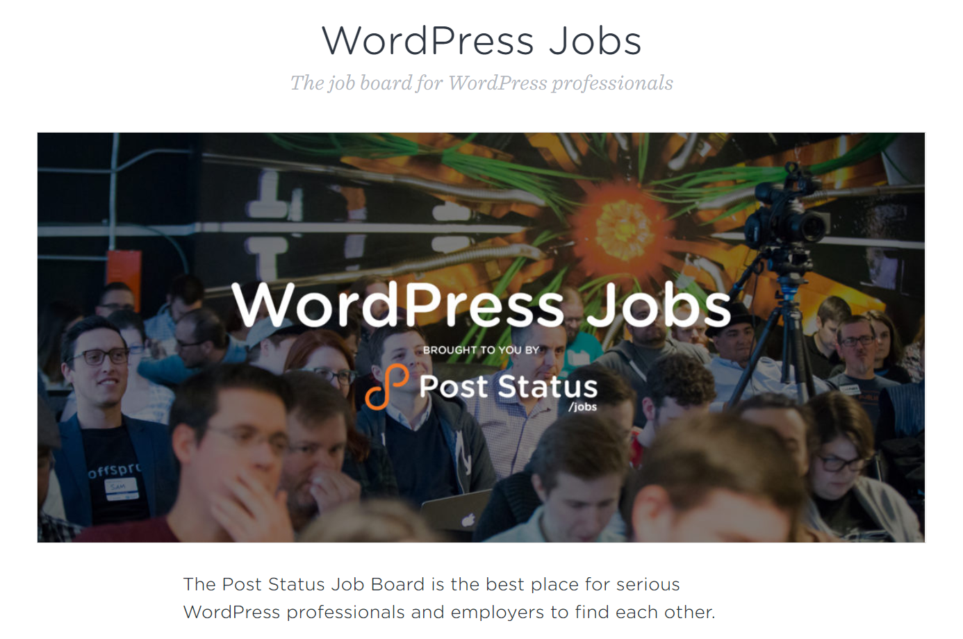 Post Status Job Board, where WordPress customer support agent positions can be found